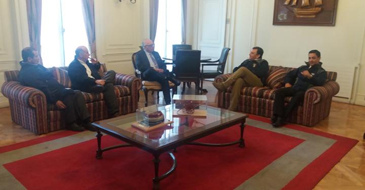 Presidente Nacional se reunió con Cuerpo de Bomberos de Parral