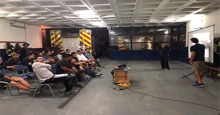 Tercera Compañía del Cuerpo de Bomberos de Arica realiza entrenamiento estándar