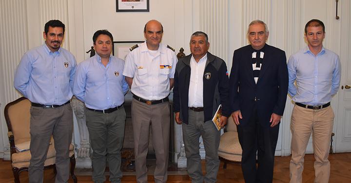 Presidente Nacional se reúne con Superintendente de Tomé