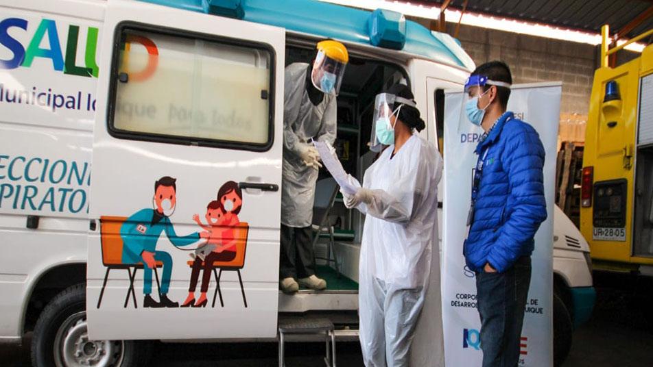 Realizan testeo preventivo a Bomberos de Iquique