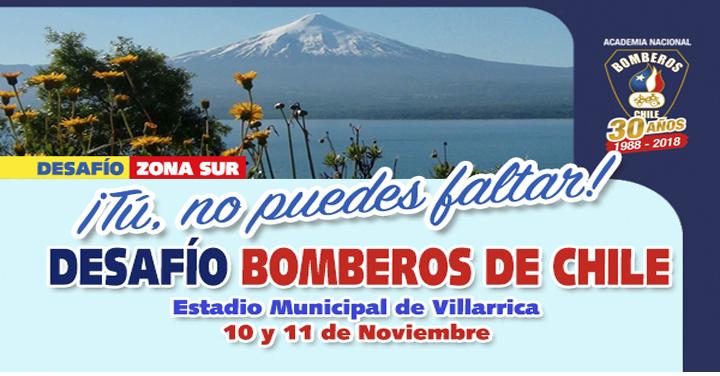 Este 10 y 11 de noviembre Bomberos del sur pondrán a prueba sus técnicas en Villarrica