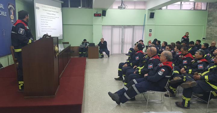 Nuevo ejercicio de movilización de grupo USAR Bomberos de Chile