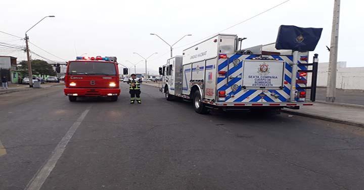 Tres compañías de Bomberos de Antofagasta trabajaron por fuga de gas