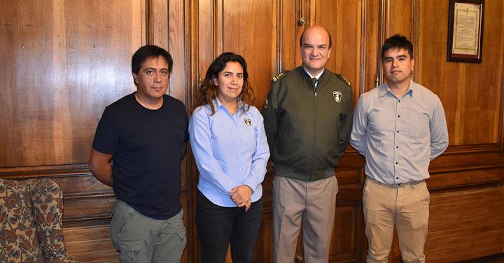 Presidente Nacional recibió a Cuerpo de Bomberos de Algarrobo, Lautaro, Arica y El Tabo