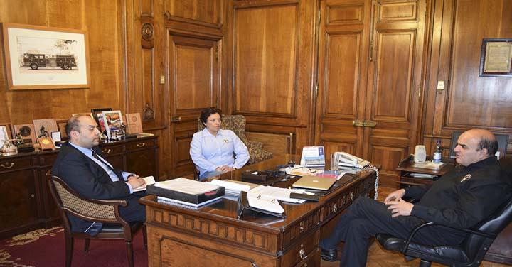 Cuerpo de Bombero de Frutillar, Paihuano y Teno se reunió con Presidente Nacional