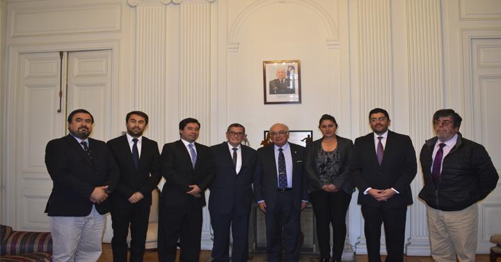 Cuerpo de Bomberos de La Granja y San Antonio sostuvo reunión con Presidente Nacional