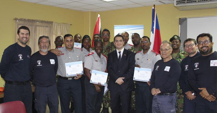 Academia Nacional de Bomberos forma instructores de Rescate Urbano en países miembros de CARICOM