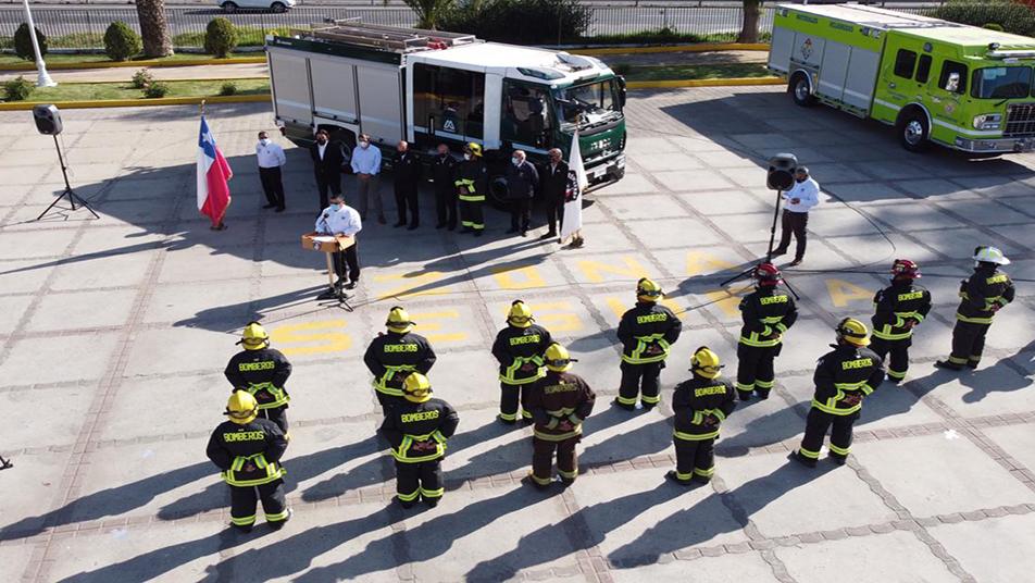 Tercera Compañía del Cuerpo de Bomberos de Melipilla recibió moderna unidad de Material Mayor