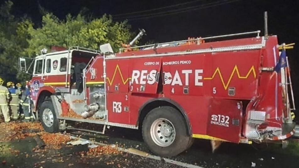 Unidad de Rescate de Penco sufre colisión por alcance mientras atendía emergencia