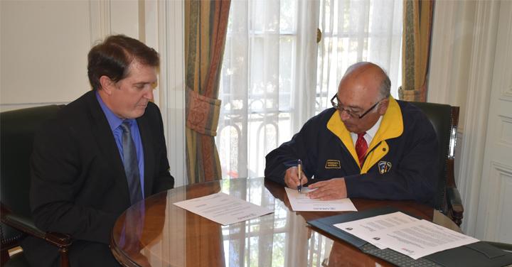 Presidente Nacional y Director ANB recibieron a autoridades de USAID-OFDA