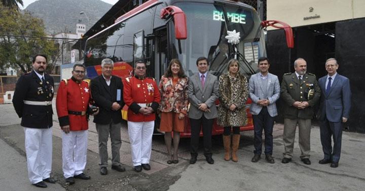 Cuerpo de Bomberos de Los Andes conmemoró 132 años de su fundación