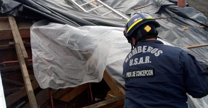Grupo Usar Provincia de Concepción se activó tras tornado en Talcahuano
