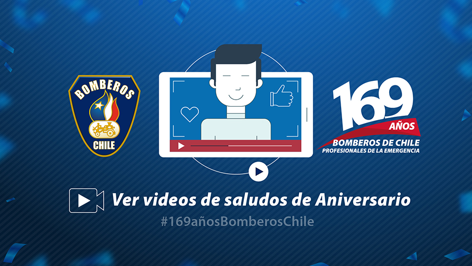 Saludos 169 años de la fundación Bomberos de Chile