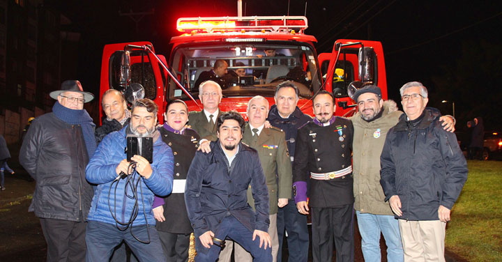 Bomberos de sector Fundo El Carmen de Temuco recibieron nuevo carro bomba