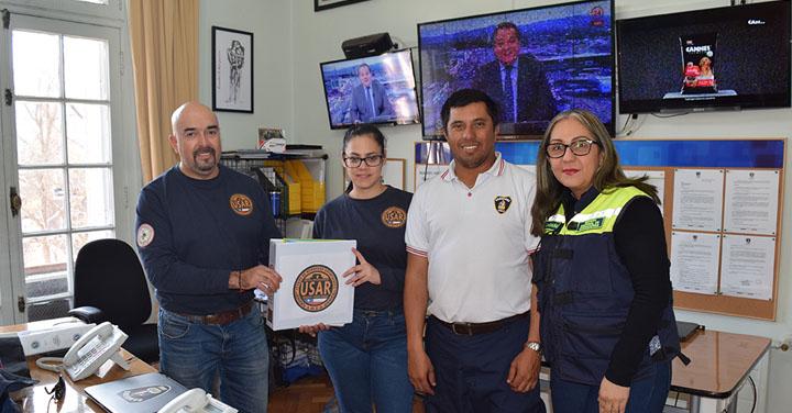 SNO recibió carpeta de acreditación del equipo USAR Bomberos de Antofagasta