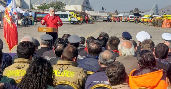 Bomberos participó en lanzamiento de histórico plan de prevención y combate de incendios forestales