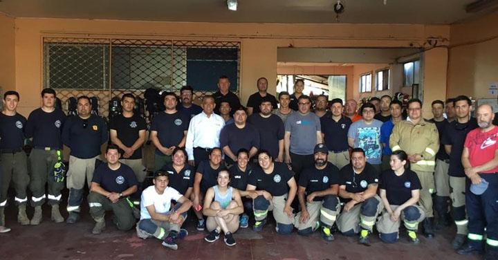 Cuerpo de Bomberos de Collipulli es designado punto de distribución tras los incendios en La Araucanía