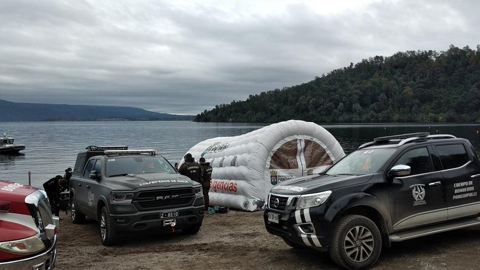 Equipos GERSA recuperan cuerpo de bombero desaparecido en el lago Panguipulli