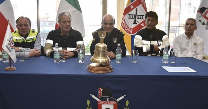 Presidente de Bomberos visita la Región del Biobío