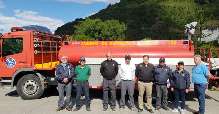 Presidente Nacional de Bomberos visitó Región de Aysén