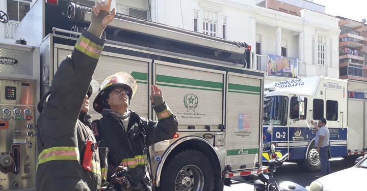 Desprendimiento de humo alertó a Bomberos Antofagasta