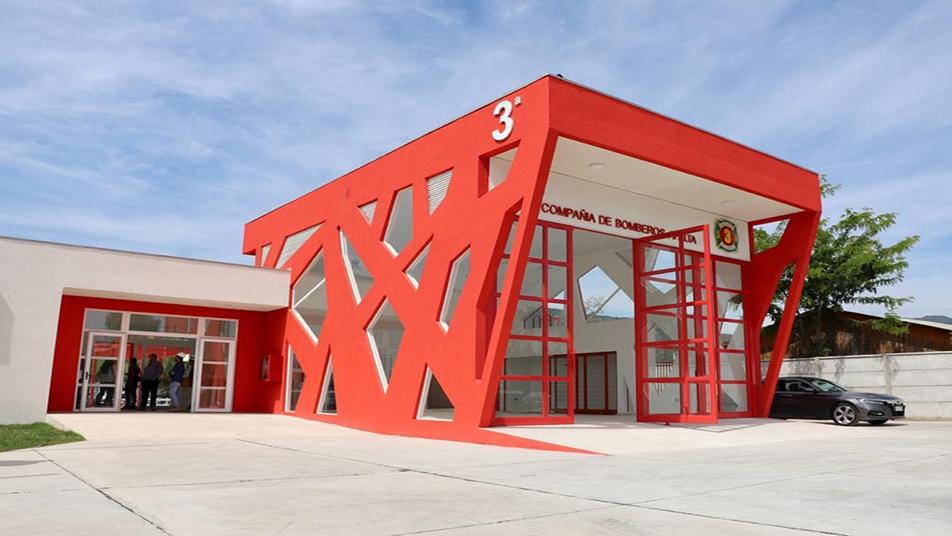 Tercera Compañía de Apalta inauguró su nuevo Cuartel