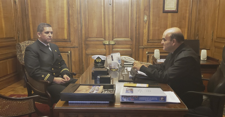 Presidente Nacional se reunió con representante de la Reserva Naval de la Armada