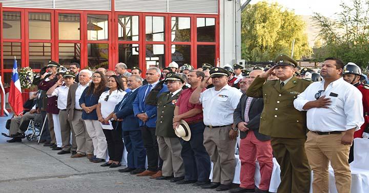 Presidente Nacional participó en la inauguración del Cuartel de Bomberos de Coltauco