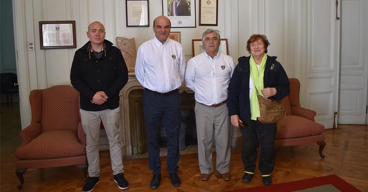 Cuerpo de Bomberos de Puchuncaví se reunió con el Presidente Nacional