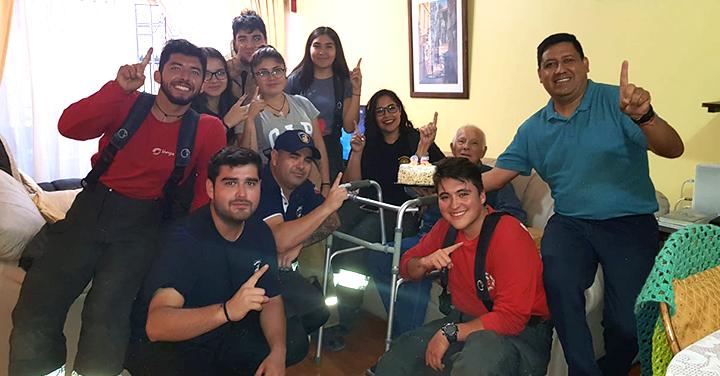Antofagasta celebró los 85 años de su voluntario insigne, Gastón Pasten