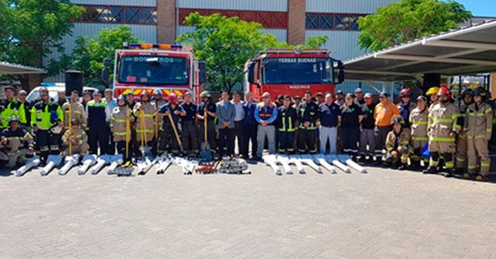Compañía General de Electricidad entrega herramientas a Bomberos del Maule