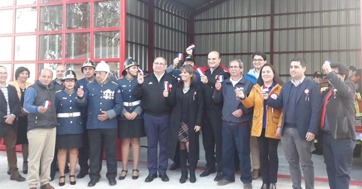 Máxima autoridad de Bomberos de Chile visita la Región de Ñuble