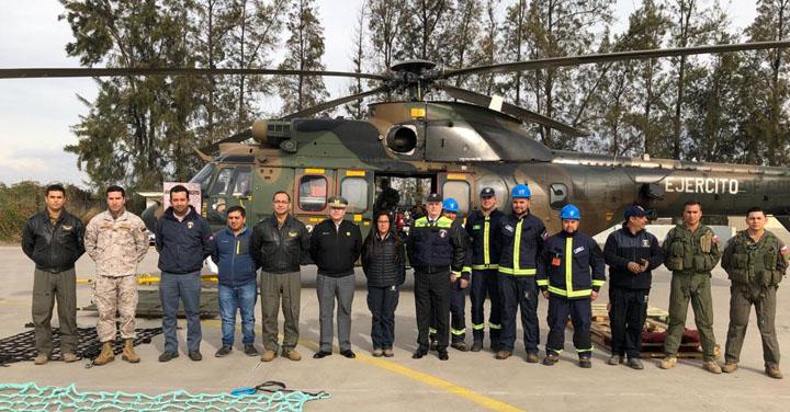 SNO realizó ejercicio de movilización de carga con la Brigada Aérea del Ejército