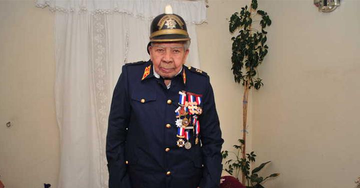 En La Serena y con 98 años falleció el bombero más longevo de Chile