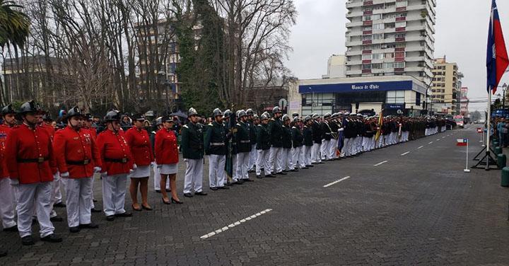 Presidente Nacional participó en celebración del Día del Bombero en Temuco