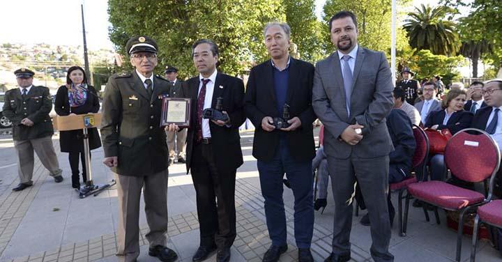 Bomberos de Lota reciben importante donación del Gobierno de Japón