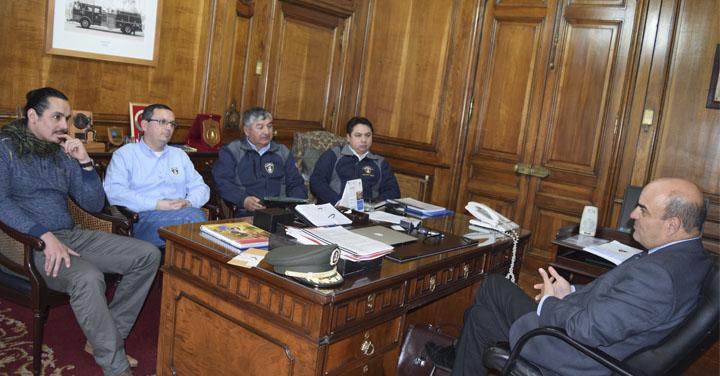 Presidente Nacional recibió la visita de diferentes Cuerpos de Bomberos