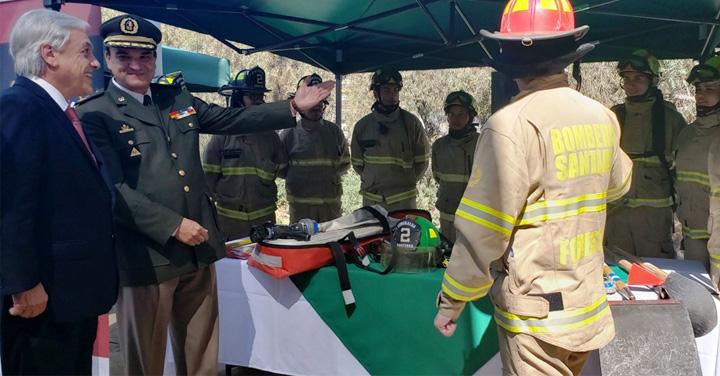 Presidente de Bomberos participó en presentación del Plan Nacional de Prevención y Combate de Incendio Forestales de CONAF