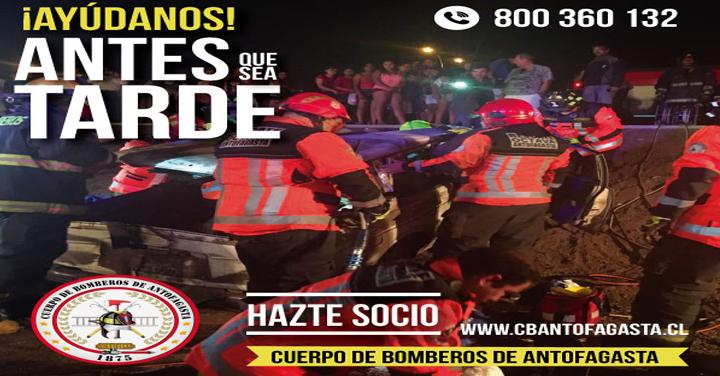 Aumento en llamados de emergencias aumenta gasto de Bomberos de Antofagasta