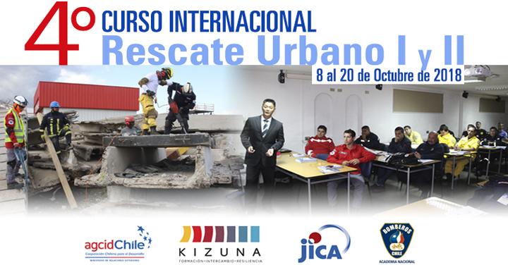 Bomberos participarán de IV Curso Internacional Búsqueda y Rescate Urbano I y II