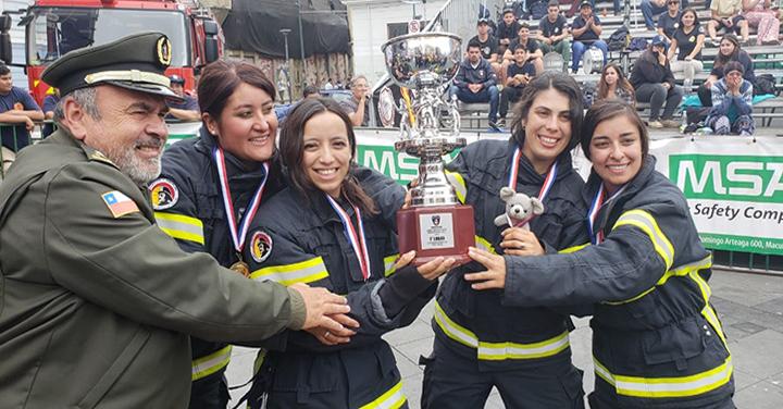 Los Equipos Chillán Fire Womans y Honorarios de la Séptima resultaron ganadores del Desafío Bomberos de Chile Zona Central