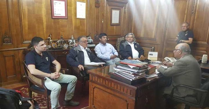 Presidente Nacional recibió al Cuerpo de Bomberos de Concepción
