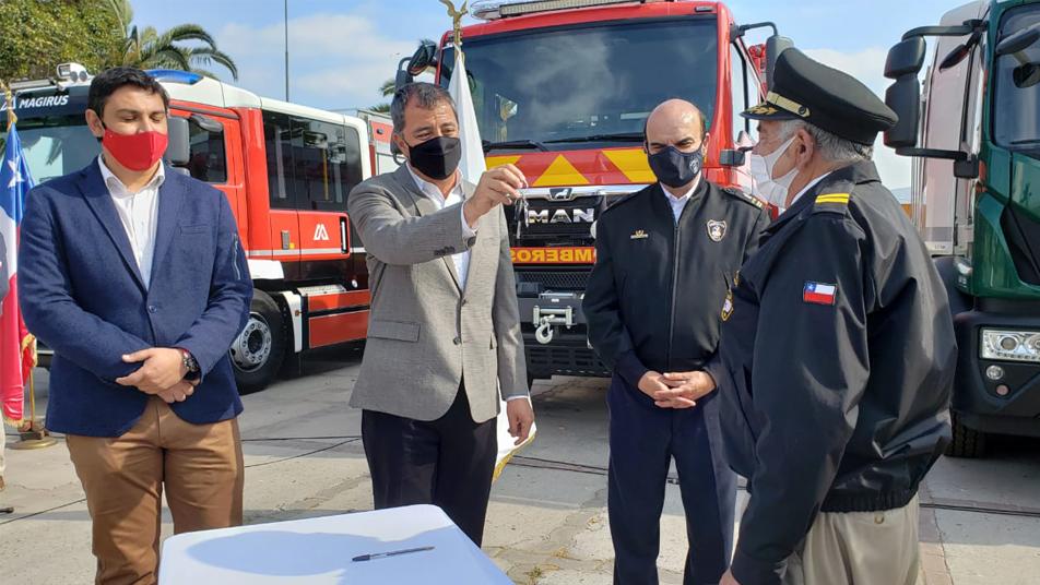 """Peñaflor y San José de Maipo reciben nuevos carros del proyecto """"VII Etapa de Adquisición de Material Mayor RM"""""""