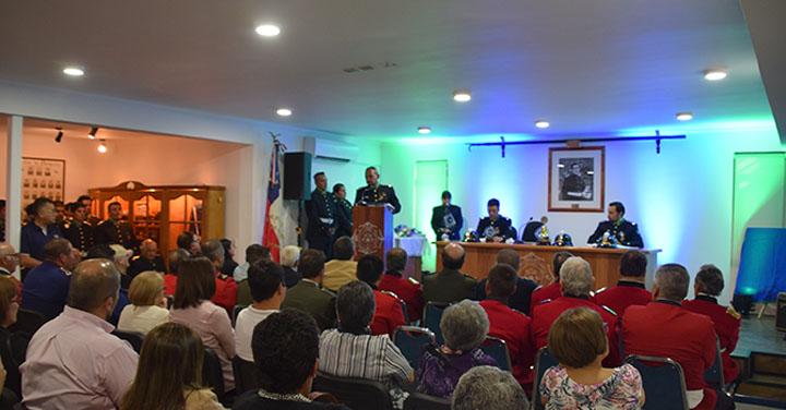 Segunda Compañía del Cuerpo de Bomberos de Rengo celebró su aniversario N°110
