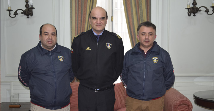 Presidente Nacional se reunió con Bomberos de Constitución y Santa Bárbara