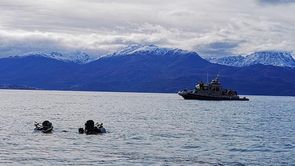 Grupo Gersa de Puerto Aysén recuperó cuerpo de persona extraviada en el Lago General Carrera