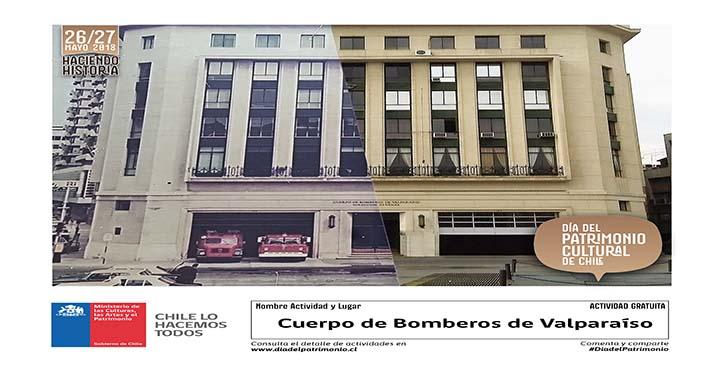 Cuerpo de Bomberos de Valparaíso participará en el Día del Patrimonio Cultural