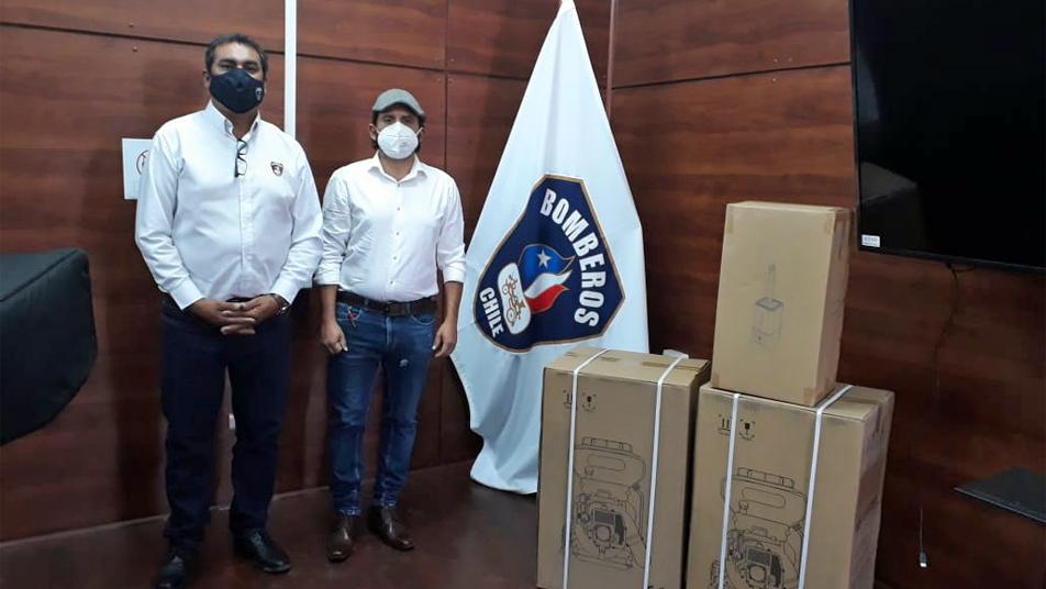 Cuerpo de Bomberos de Arica recibe donación de Inversiones Genus Sport Chile