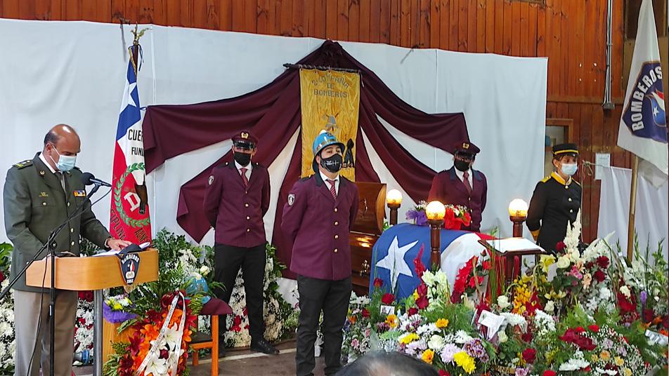 """Su entrega es testimonio de los votos que juramos al ingresar a Bomberos de Chile"" Presidente Nacional en funeral de Ulises Pacheco Pacheco (Q.E.P.D)"