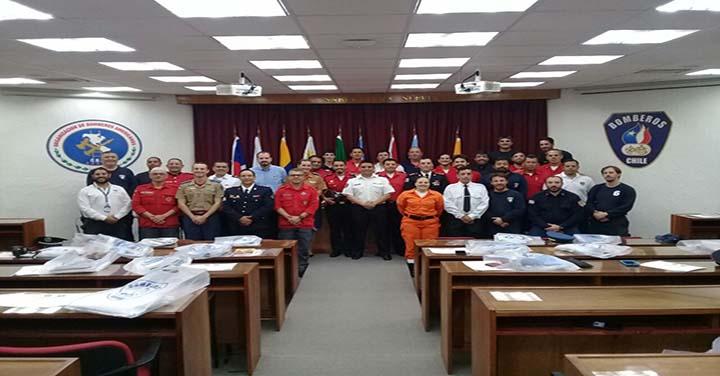 Culminó curso de Rescate Urbano II de la Academia Nacional de Bomberos de Chile
